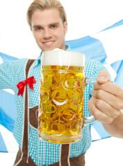 seppl is holding a beer