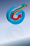 Logo input output poster