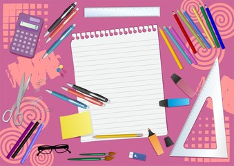 School fucsia background