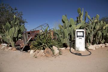 Alte Tankstelle in Namibia