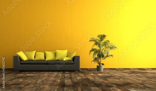 Wohndesign - gelbe Wand