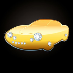 Pendentif en or de voiture