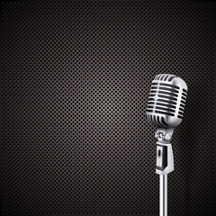 microphone in front of perforated plate