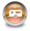 "Orange Glossy Pictogram ""Camping Trailer"""
