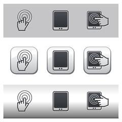 Icônes tablette tactile et concept