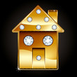 Golden House with Diamonds