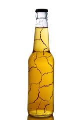 bottiglia di birra rotta