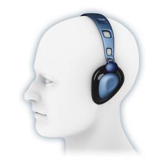 Cuffie acustiche blu