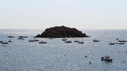 La Illa, islote en Tossa de Mar, Costa Brava, Cataluña, España