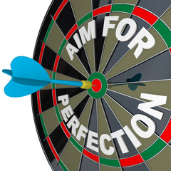 Aim for Perfection - Dart Hits Target Bulls-Eye on Dartboard
