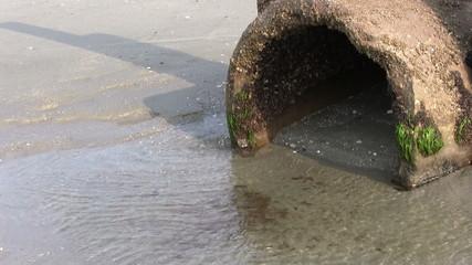 Beach storm drain