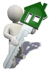 Figur mit Haustürschlüssel