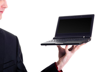businessman with netbook