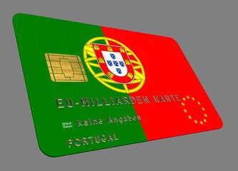 Portugal EURO Kredit Karte