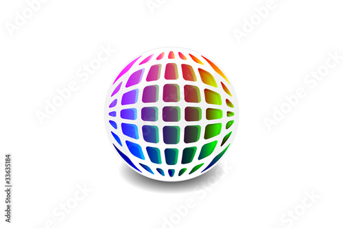 Disco Ball Isolated White