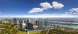 Very Detailed Skyline of Vienna Danube with wonderful cloudscape