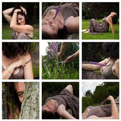 composition femme brune dans la nature