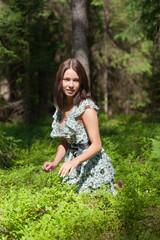 girl in summer wood