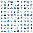 100 Web Icons blue