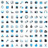 100 Web Icons blue
