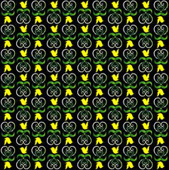 pattern with bird seamless texture