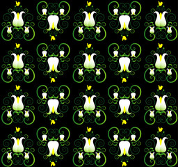 pattern with lily seamless texture