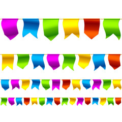 Seamless bunting flags