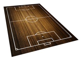 football , soccer field. (Wood pattern)