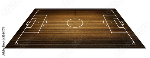 football , soccer field. (Wood pattern)