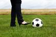 Fussball mit eleganten Frauenschuh 682
