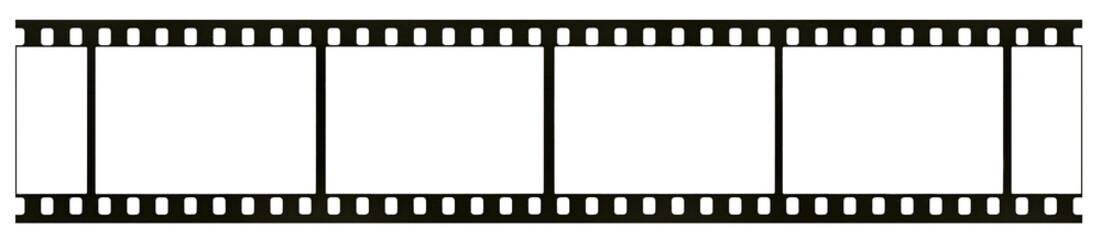 Blank highly detailed real 35mm black-and-white film frame