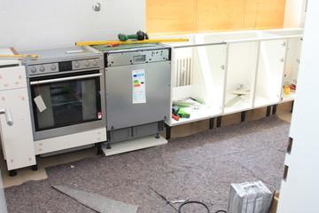 Aufbau einer Küchenzeile - Building a kitchen