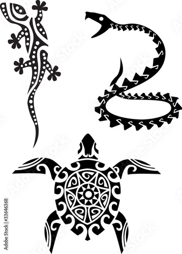 Reptile tribal tattoo