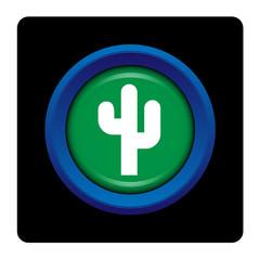 Internet, bouton, logo, picto, cactus, cactée, desert, plante