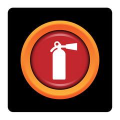 Internet, bouton, logo, picto, extincteur, incendie, sécurité