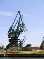 cranes of shipyard, Gdansk, Poland