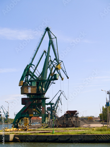 cranes of shipyard, Gdansk, Poland
