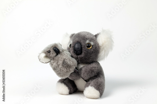 Poster Cute Koala Toy with cub