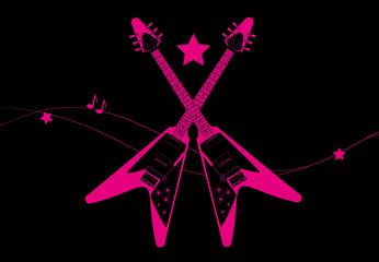 Chitarre elettriche rosa