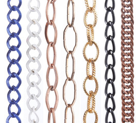 various collection of metal chain