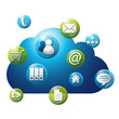 logo, cloud, nuage, internet