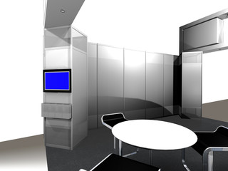 Inside of an exhibition Booth