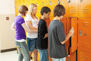 Teens at Lockers