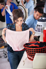 Woman Holding Granny Panties