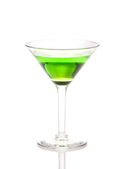 Green martini Cocktail drink