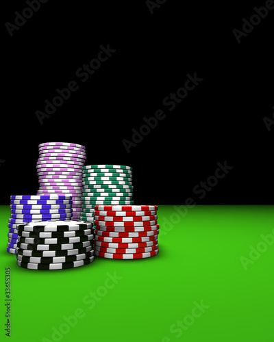 Casino Chips Background