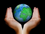 Whole world in her hands