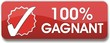 bouton 100% gagnant