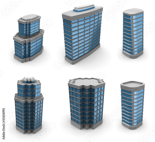 city buildings set