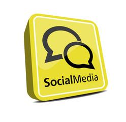 Social Button 3d